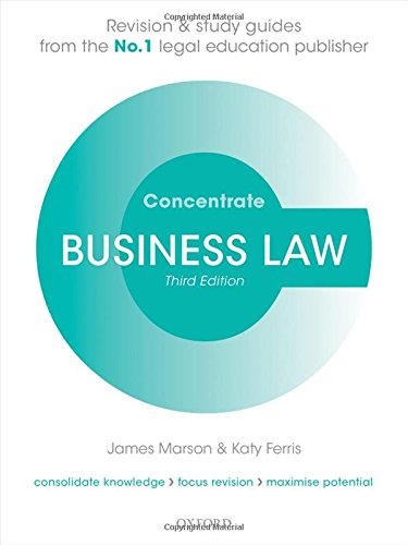 9780198759126: Business Law Concentrate: Law Revision and Study Guide