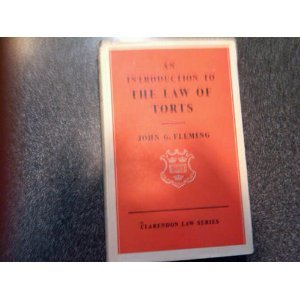9780198760085: An Introduction to the law of Torts