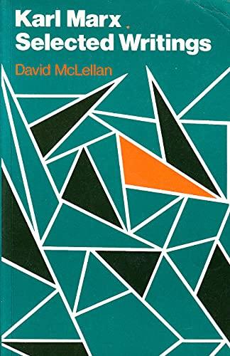 9780198760382: Karl Marx: Selected Writings