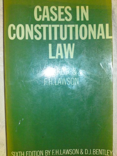 9780198760771: Cases in Constitutional Law