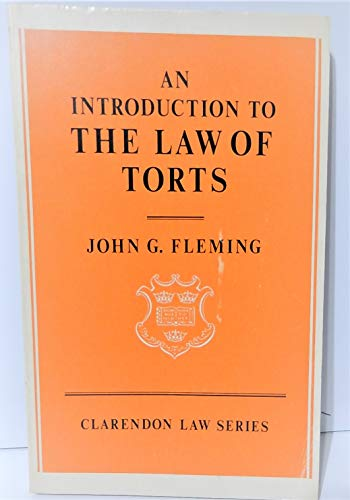 9780198760795: Introduction to the Law of Torts (Clarendon Law Series)