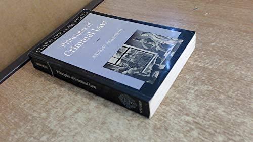 9780198761457: Principles of Criminal Law (Clarendon Law Series)