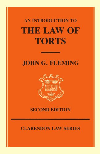 9780198761556: An Introduction to the Law of Torts