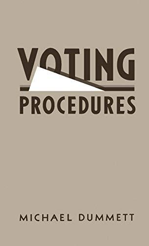 9780198761884: Voting Procedures