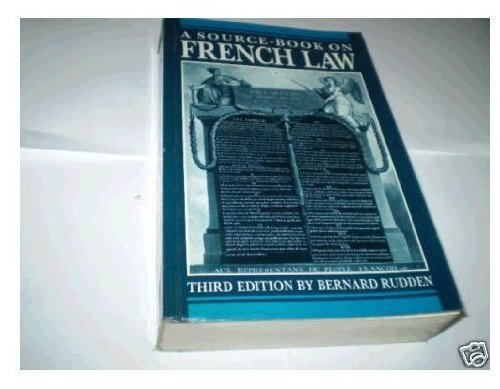 9780198762478: Source Book on French Law: Systems, Methods, Outlines of Contract (French and English Edition)