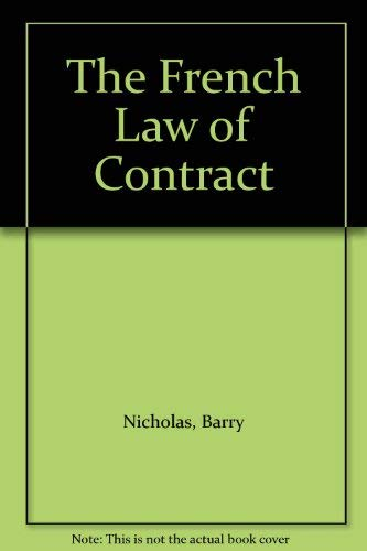 9780198762553: The French Law of Contract