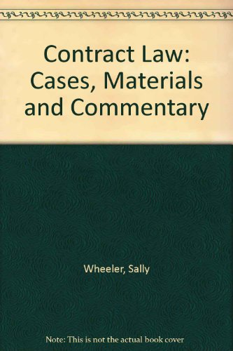 9780198762942: Contract Law: Cases, Materials and Commentary