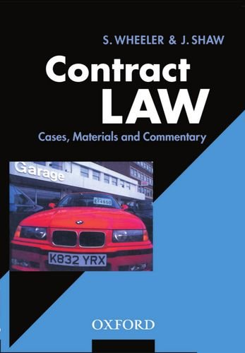 9780198762959: Contract Law: Cases, Materials, and Commentary