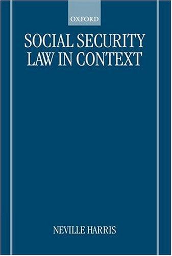 9780198763079: Social Security Law in Context