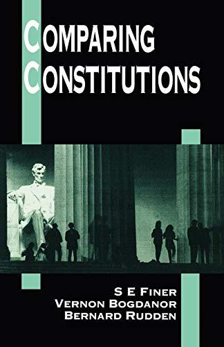 9780198763444: Comparing Constitutions