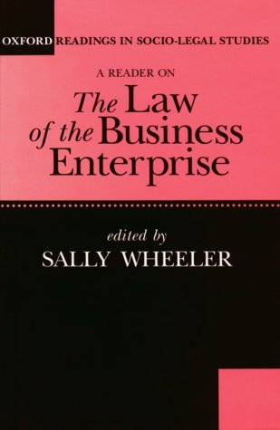 9780198763468: A Reader on The Law of the Business Enterprise: Selected Essays (Oxford Readings in Socio-Legal Studies)