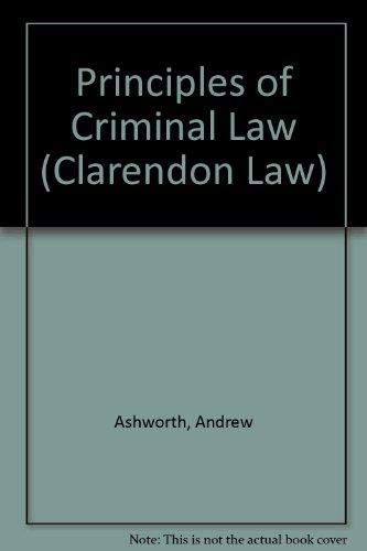 9780198763673: Principles of Criminal Law (Clarendon Law Series)