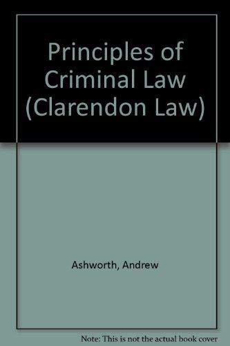 9780198763673: Principles of Criminal Law (Clarendon Law Series)