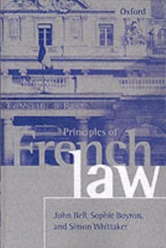 9780198763956: Principles of French Law