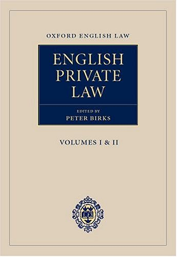 English Private Law.: Birks, Peter (ed.)