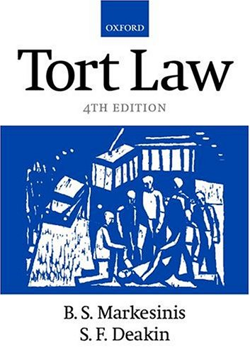 TORT LAW.: Markesinis, B.S. and