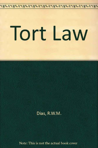 TORT LAW.: Markesinis, B. S.,