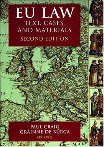 9780198765097: EU Law: Text, Cases and Materials