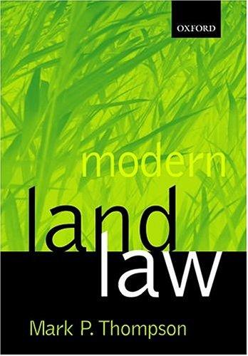 9780198765561: Modern Land Law