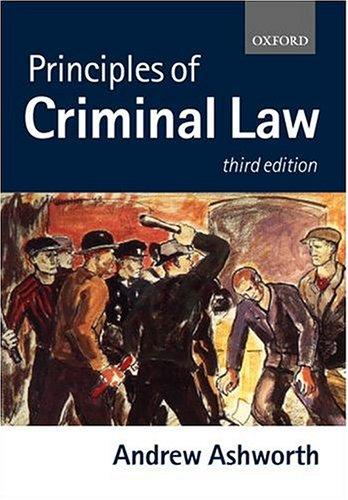 9780198765578: Principles of Criminal Law (Clarendon Law Series)