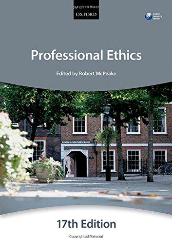 Professional Ethics (Bar Manual): Duncan, Nigel