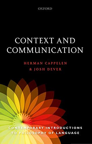 9780198769910: Context and Communication (Contemporary Introductions to Philosophy of Language)