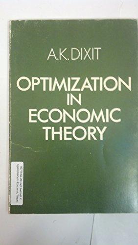 9780198771036: Optimization in Economic Theory