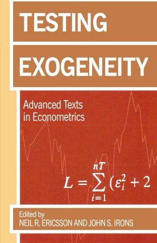 9780198774044: Testing Exogeneity (Advanced Texts in Econometrics)