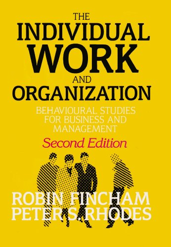 9780198774266: Individual, Work and Organization