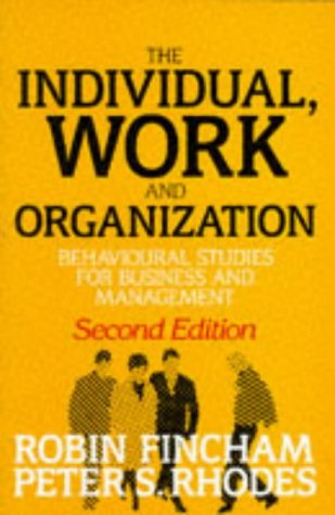 9780198774273: Individual, Work and Organization