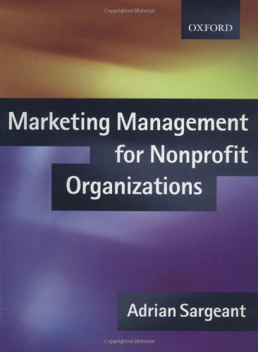 9780198775669: Marketing Management for NonProfit Organizations