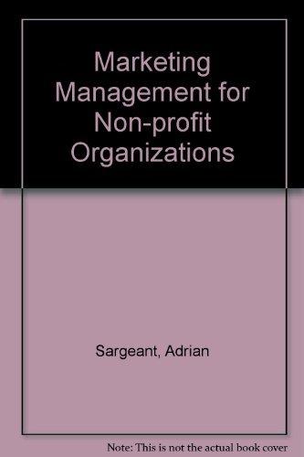 9780198775676: Marketing Management for NonProfit Organizations