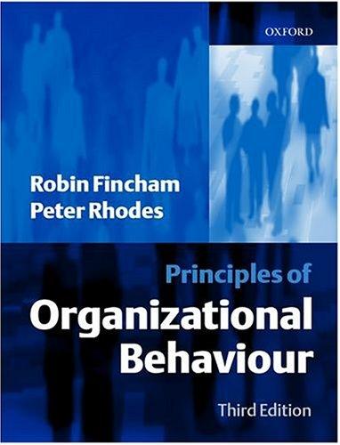 9780198775775: Principles of Organizational Behaviour