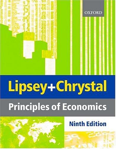 Principles of Economics: Lipsey, Richard G.;