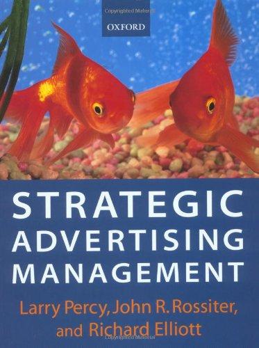 9780198782322: Strategic Advertising Management