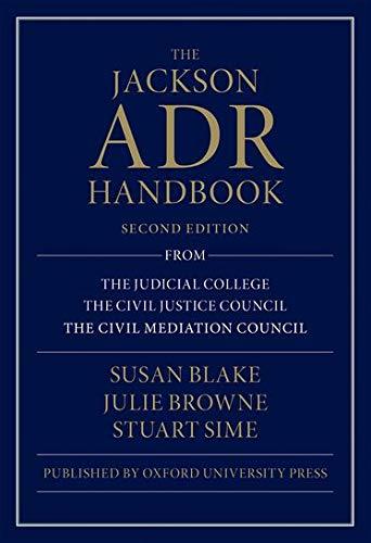 9780198783190: The Jackson ADR Handbook