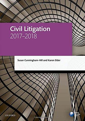 9780198787655: Civil Litigation 2017-2018 (Legal Practice Course Manuals)