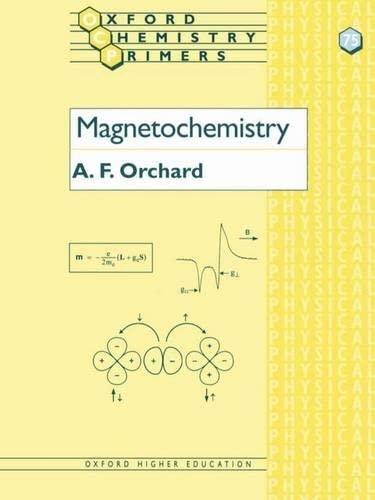 9780198792789: Magnetochemistry (Oxford Chemistry Primers)