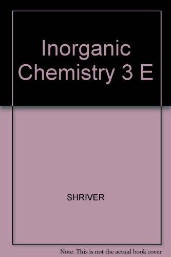 9780198792932: Inorganic Chemistry 3 E
