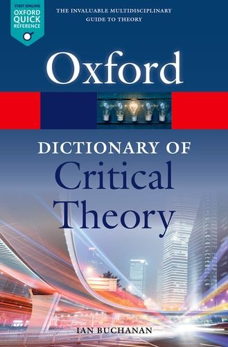 oxford dictionary of critical theory pdf