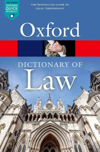 9780198802525: A Dictionary of Law (Oxford Quick Reference)