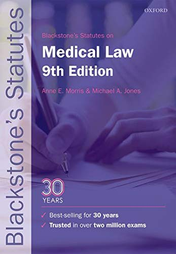 9780198802655: Blackstone's Statutes on Medical Law (Blackstone's Statute Series)