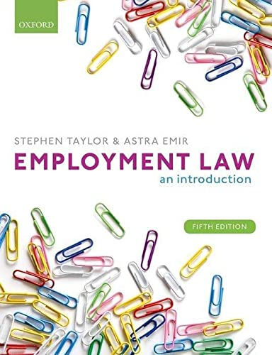 9780198806752: Employment Law: An Introduction