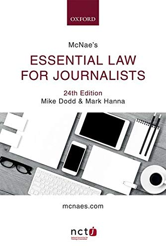 9780198809579: McNae's Essential Law for Journalists
