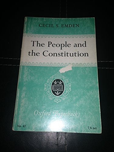 9780198810421: People and Constitution