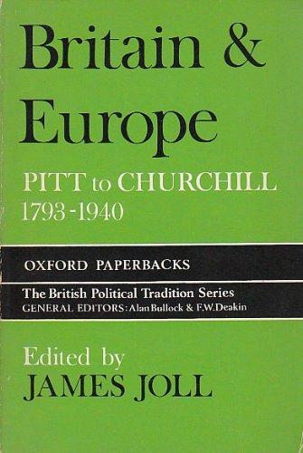 9780198811190: Britain and Europe: Pitt to Churchill, 1789-1940 (Oxford Paperbacks)