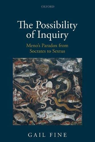 9780198822646: The Possibility of Inquiry: Meno's Paradox from Socrates to Sextus
