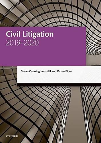 9780198838555: Civil Litigation 2019-2020 (Legal Practice Course Manuals)
