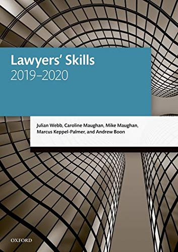 9780198838647: Lawyers' Skills (Legal Practice Course Manuals)