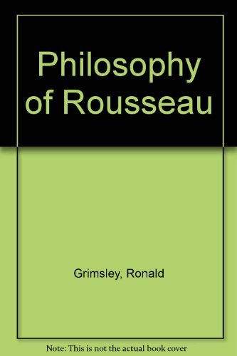 9780198850625: The Philosophy of Rousseau